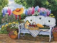 Garden Bench Fine-Art Print