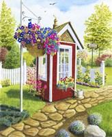 Langley Garden Shed Fine-Art Print