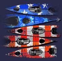 Flag Kayaks Fine-Art Print