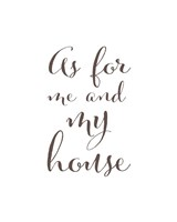 As For Me and My House Fine-Art Print