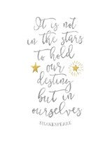 Shakespeare Destiny Quote Fine-Art Print