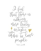 Van Gogh Love People Quote Fine-Art Print