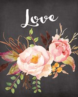 Watercolor Flowers Love Fine-Art Print