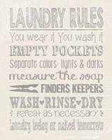 Laundry Rules on Whiate Fine-Art Print