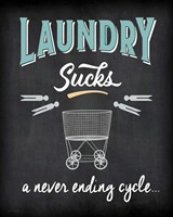 Laundry Sucks Framed Print
