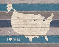 I Love the USA Map Fine-Art Print
