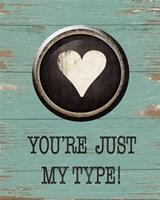Type Key Name Fine-Art Print
