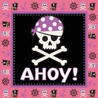 Ahoy Pirate Girl III Framed Print
