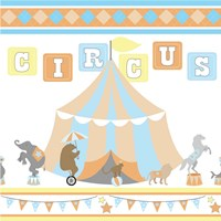 Baby Big Top VII Blue Fine-Art Print