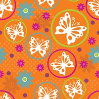 Butterflies and Blooms Lively V Fine-Art Print