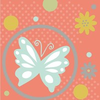 Butterflies and Blooms Tranquil VII Fine-Art Print
