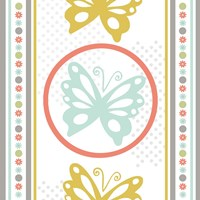 Butterflies and Blooms Tranquil IX Fine-Art Print