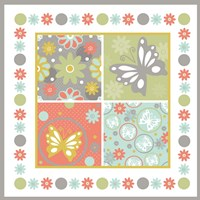 Butterflies and Blooms Tranquil X Fine-Art Print