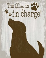 The Dog is in Charge Fine-Art Print