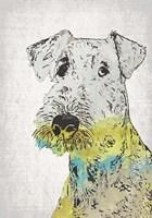 Abstract Dog III Fine-Art Print