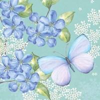 Blue Floral Butterfly Fine-Art Print