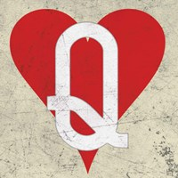 Queen of Hearts Antique Fine-Art Print