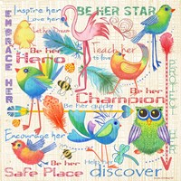 Lil Bird Sampler Fine-Art Print