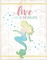 Live Mermaid Framed Print