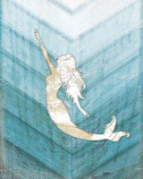 Coastal Mermaid I Framed Print
