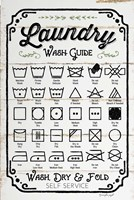Laundry Wash Guide Fine-Art Print