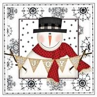 Snowman Snowflake IV Fine-Art Print