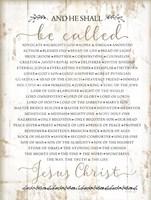 Names of Christ Fine-Art Print