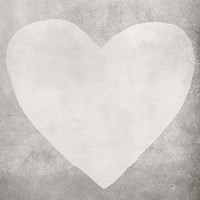 Dark Grey Heart Fine-Art Print