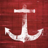 Red and White Anchor Fine-Art Print