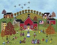 Schoolyard Fun With Green Fine-Art Print