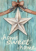 White Barn Star with Bow Home White Fine-Art Print
