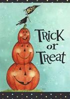 Pumpkin Stack Trick Or Treat New Fine-Art Print