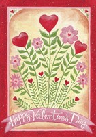 Valentines Day Happy Flowers Fine-Art Print