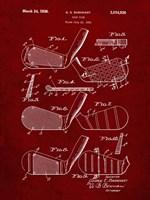 Golf Club Patent - Burgundy Fine-Art Print