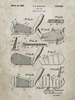 Golf Club Patent - Sandstone Fine-Art Print