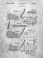 Golf Club Patent - Slate Fine-Art Print