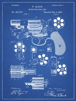 Revolving Fire Arm Patent - Blueprint Fine-Art Print