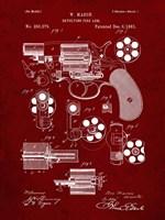 Revolving Fire Arm Patent - Burgundy Fine-Art Print