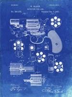 Revolving Fire Arm Patent - Faded Blueprint Fine-Art Print