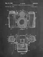 Photographic Camera With Coupled Exposure Meter Patent - Chalkboard Fine-Art Print