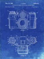 Photographic Camera With Coupled Exposure Meter Patent - Faded Blueprint Fine-Art Print