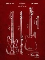 Guitar Patent - Burgundy Fine-Art Print