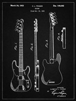 Guitar Patent - Vintage Black Fine-Art Print