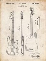 Guitar Patent - Vintage Parchment Fine-Art Print