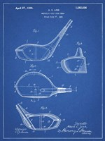 Metallic Golf Club Head Patent - Blueprint Fine-Art Print