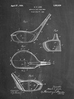 Metallic Golf Club Head Patent - Chalkboard Fine-Art Print
