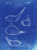 Metallic Golf Club Head Patent - Faded Blueprint Fine-Art Print