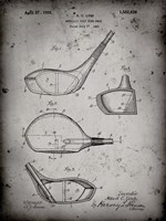 Metallic Golf Club Head Patent - Faded Grey Fine-Art Print