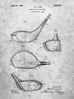 Metallic Golf Club Head Patent - Slate Fine-Art Print