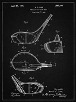 Metallic Golf Club Head Patent - Vintage Black Fine-Art Print